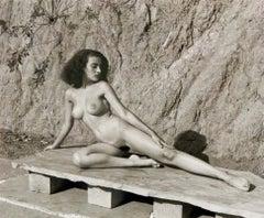 Nude on Stone Bench, Andre de Dienes
