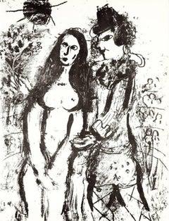 Clown in Love, Marc Chagall