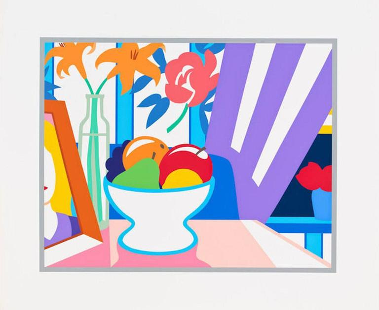 Still Life with Lilies and Mixed Fruit - Print by Tom Wesselmann
