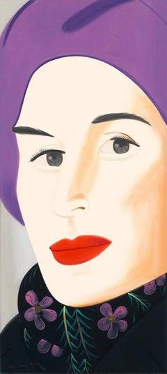 Alex Katz - Ada in Purple Hat
