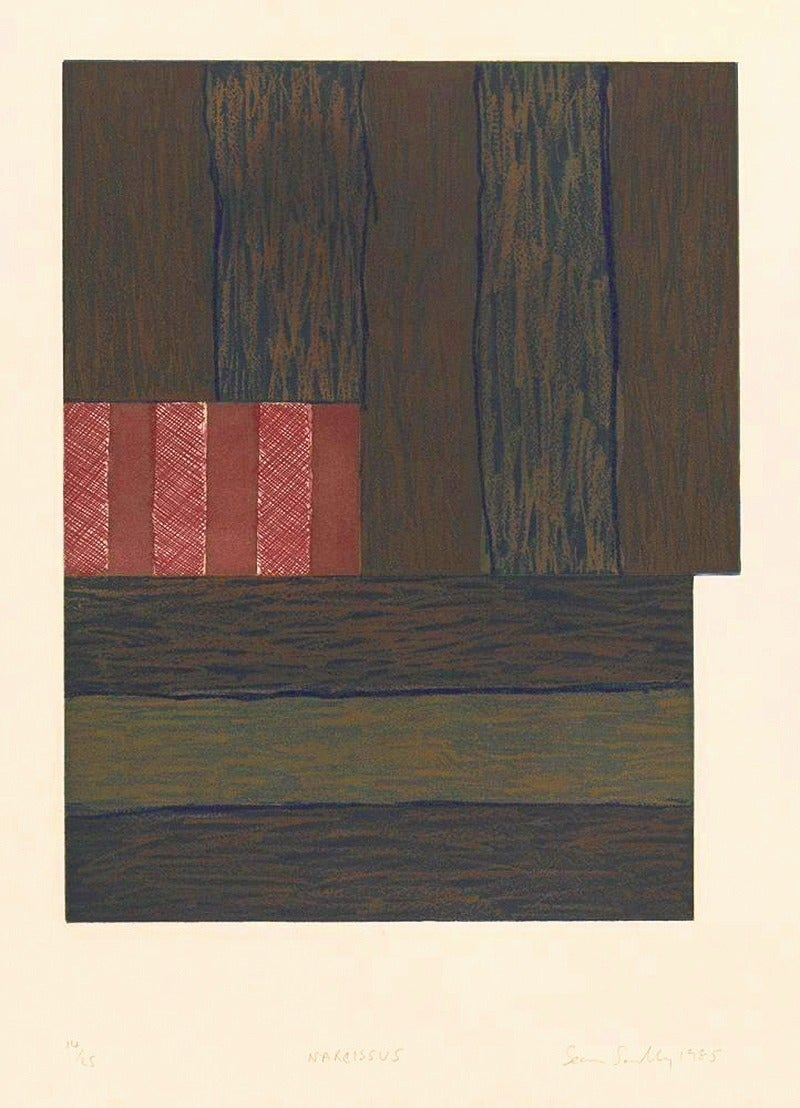 Sean Scully Abstract Print - Narcissus