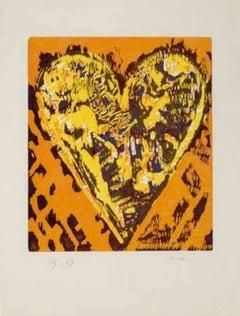 Woodcut Heart, Jim Dine