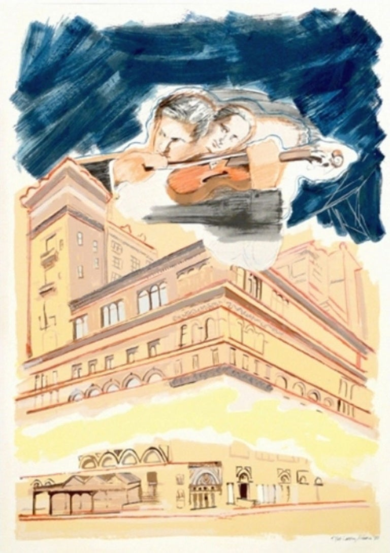 Sky Music Over Carnegie Hall, Larry Rivers - Print by Larry Rivers