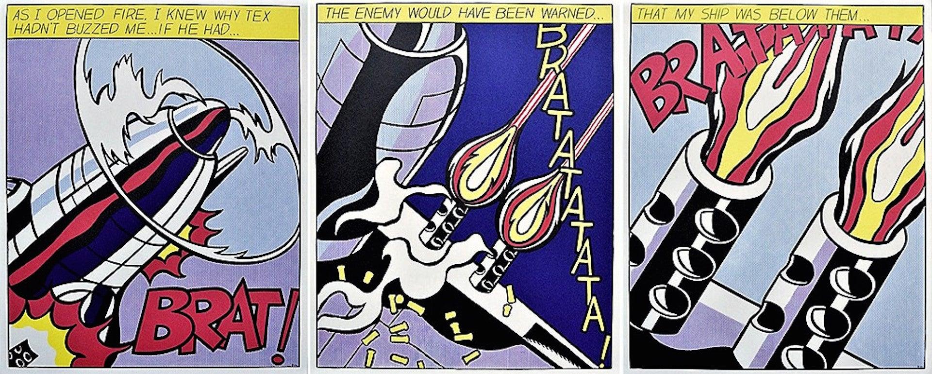 As I Opened Fire, Roy Lichtenstein