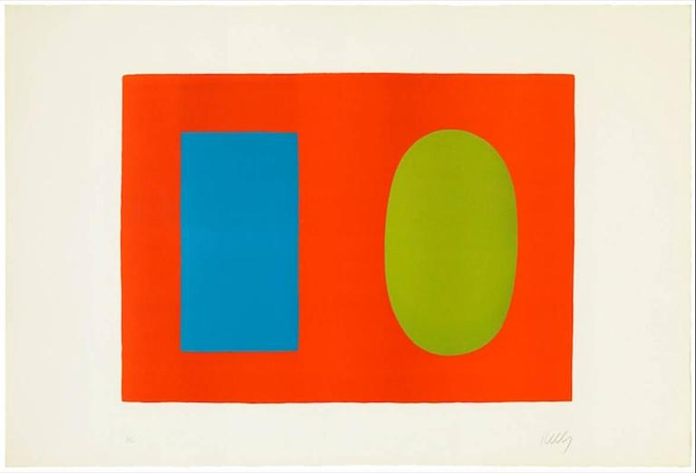 Blue and Green over Orange - Print by Ellsworth Kelly