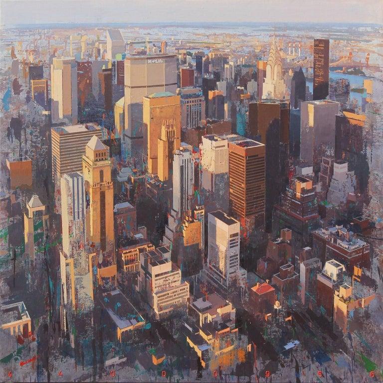 Albert Vidal Moreno Landscape Painting - Life - New York City Painting on Canvas