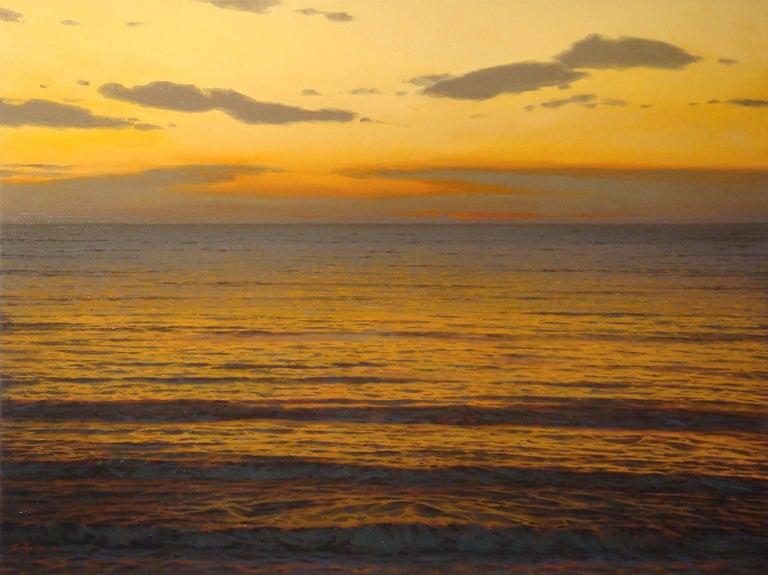 Enrique Santana Landscape Painting - Oceans XIV