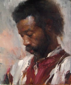 Inspiration Cafe #2 - Original Oil Painting Portrait From Life in Soft Hues