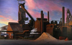 Twilight in the Wilderness, Urban Industrial Landscape, Contemporary Realism