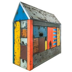 Structure #49, Multicolor Multitexture Steel Barn House