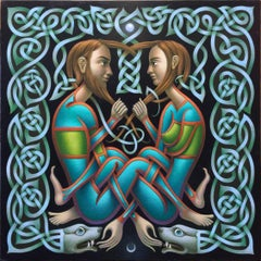 Love Knot - Archaic Irish Manuscript Inspired Erotic Artwork of Entwined Figures