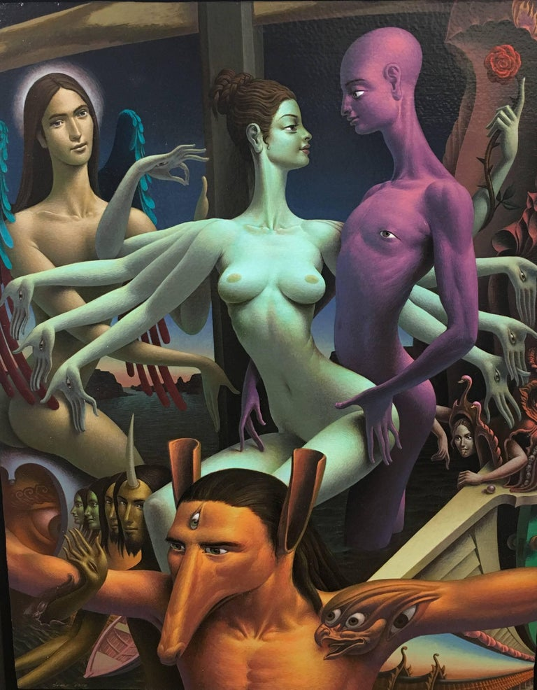 Oliver Hazard Figurative Painting - The Story of I