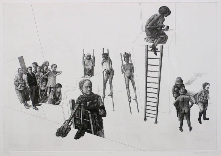 David Becker Figurative Print - Exit