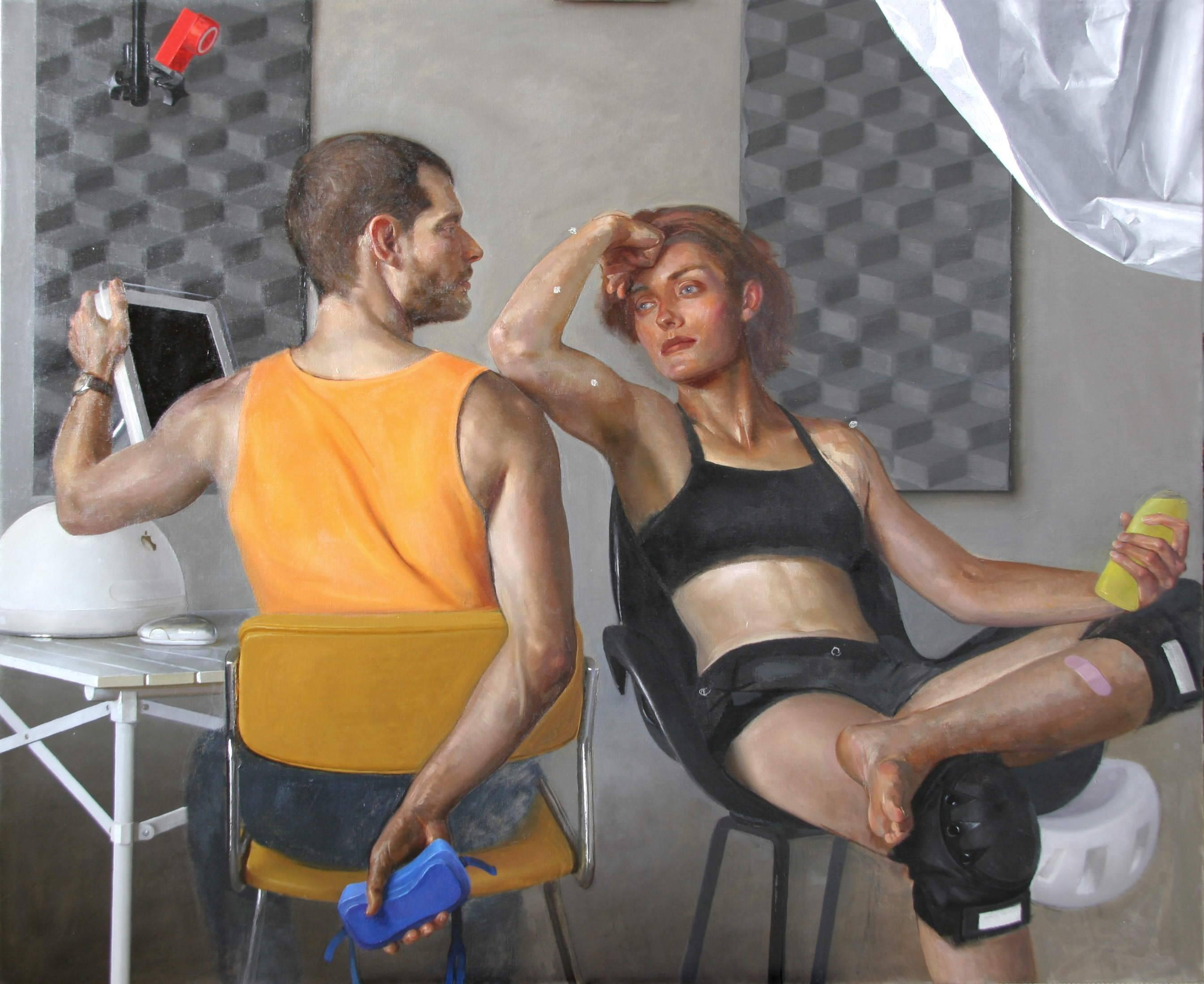 Motion Capture 8 - Contemporary Painting, Classical Composition, Oil on Canvas