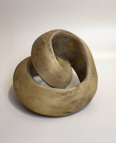 Amber Recoil, Abstract Geometric Ceramic Sculpture