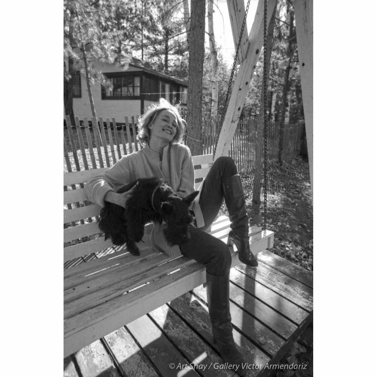 Art Shay Black and White Photograph - Jessica Lange at her Minnesota Cottage, 1976