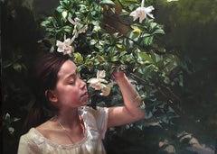 Portrait with Gardenias