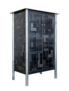 Half Housetop Quilt Cupboard - Steel Furniture