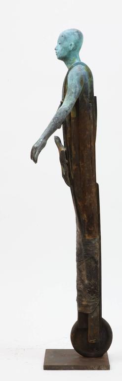 Centauro - Cast Bronze Figure Geometric and Organic Elements by Jesús Curiá For Sale 2
