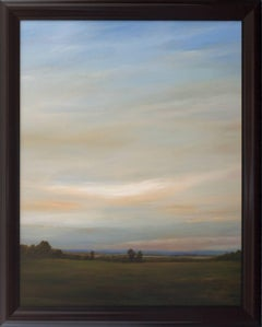 Out Towards the River - Original Painting of Expansive Sky and Subtle Landscape