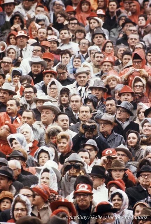 Art Shay Color Photograph - Find Waldo Nixon, Fayetteville, Arkansas, 1969