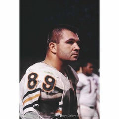 Mike Ditka, 1966, Chicago Bear Tight End, Color Photograph, Matted and Framed
