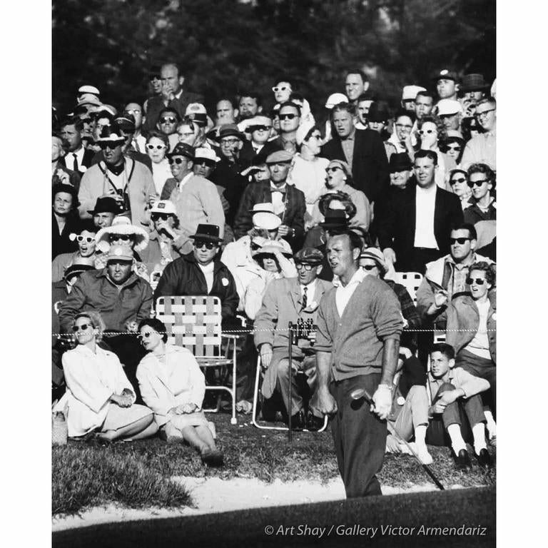 Art Shay Black and White Photograph - Palmer Ready to Win Masters, Augusta, Georgia 1960