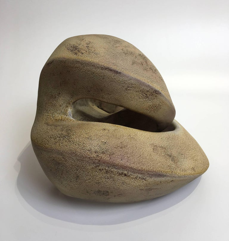 Amber Recoil, Abstract Geometric Ceramic Sculpture For Sale 3