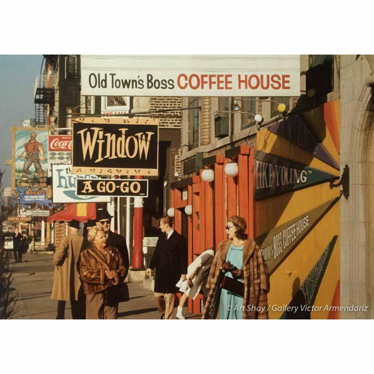 Art Shay Color Photograph - Old Town's Boss Coffee Shop, Chicago 1970