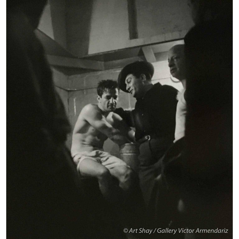 Art Shay Black and White Photograph - Rocky Graciano in Locker Room After Fight, 1948