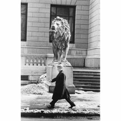 "Mafia Boss Tony ""Big Tuna"" Accardo in Front of Big Lion, Chicago 1959"