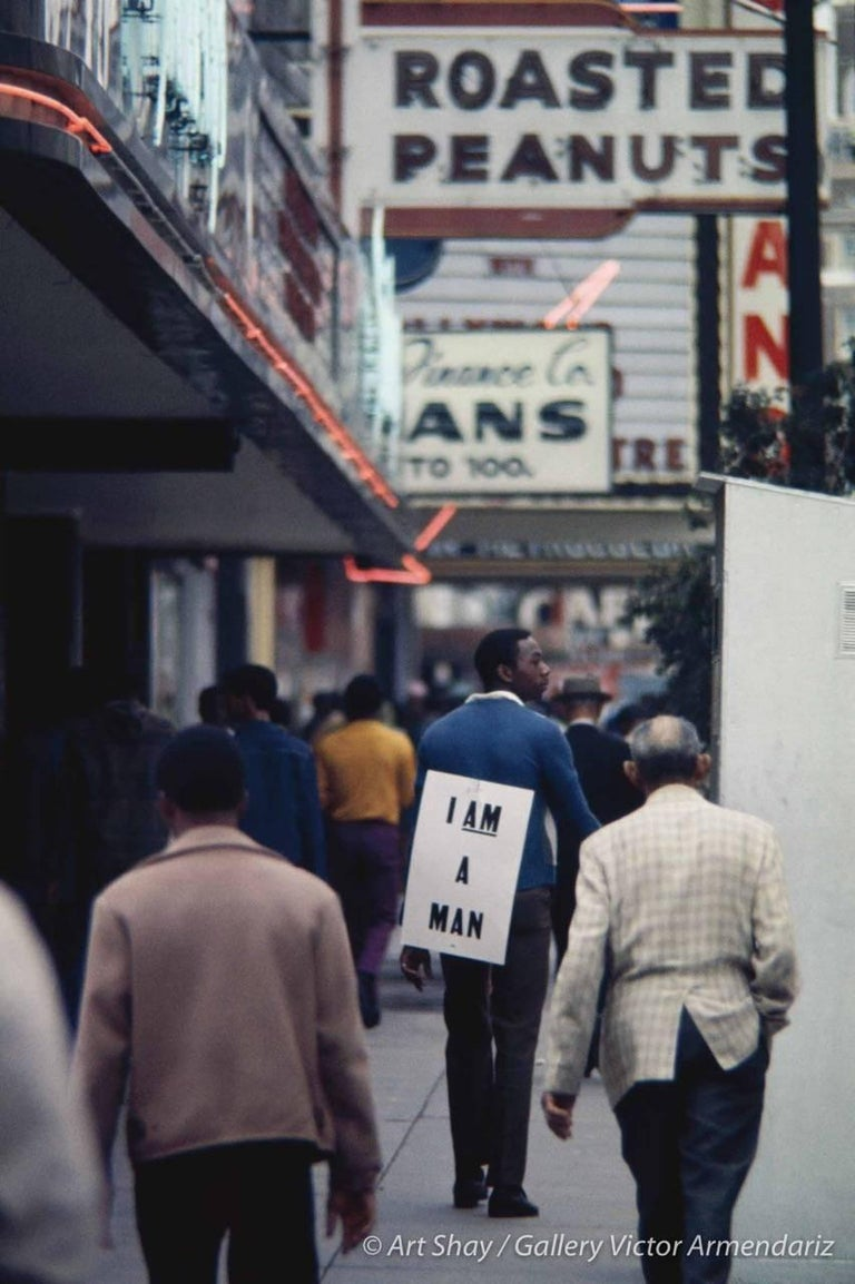 Art Shay Color Photograph - I Am A Man, Chicago
