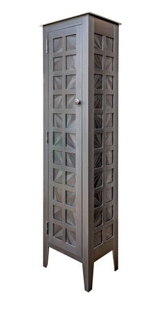 One Door Fans Quilt Cupboard - Steel Furniture