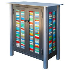 Two Door Strips Quilt Cupboard - Steel Furniture, Gee's Bend Quilt Design