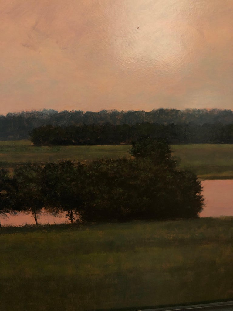 Thunderstorm Near Alton IL - Oil Painting on Panel of Midwest Landscape For Sale 6