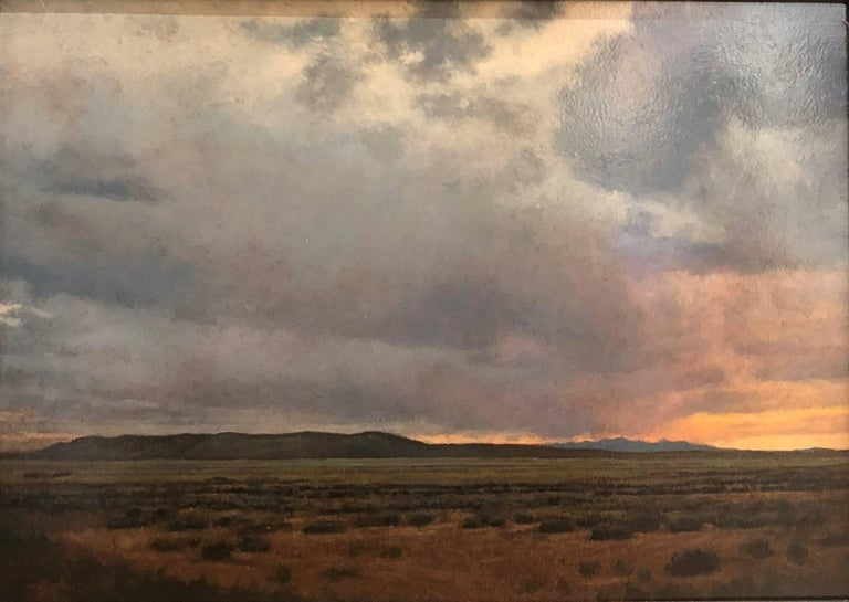 Jeff Aeling Sunset South Of Galisteo Nm Painting For