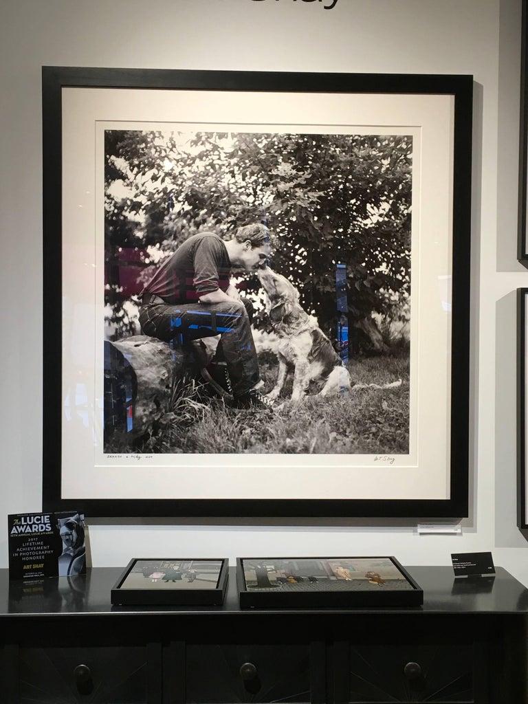 Marlon Brando Kissing Dog, Libertyville, IL 1950 - Large Format Black & White 2