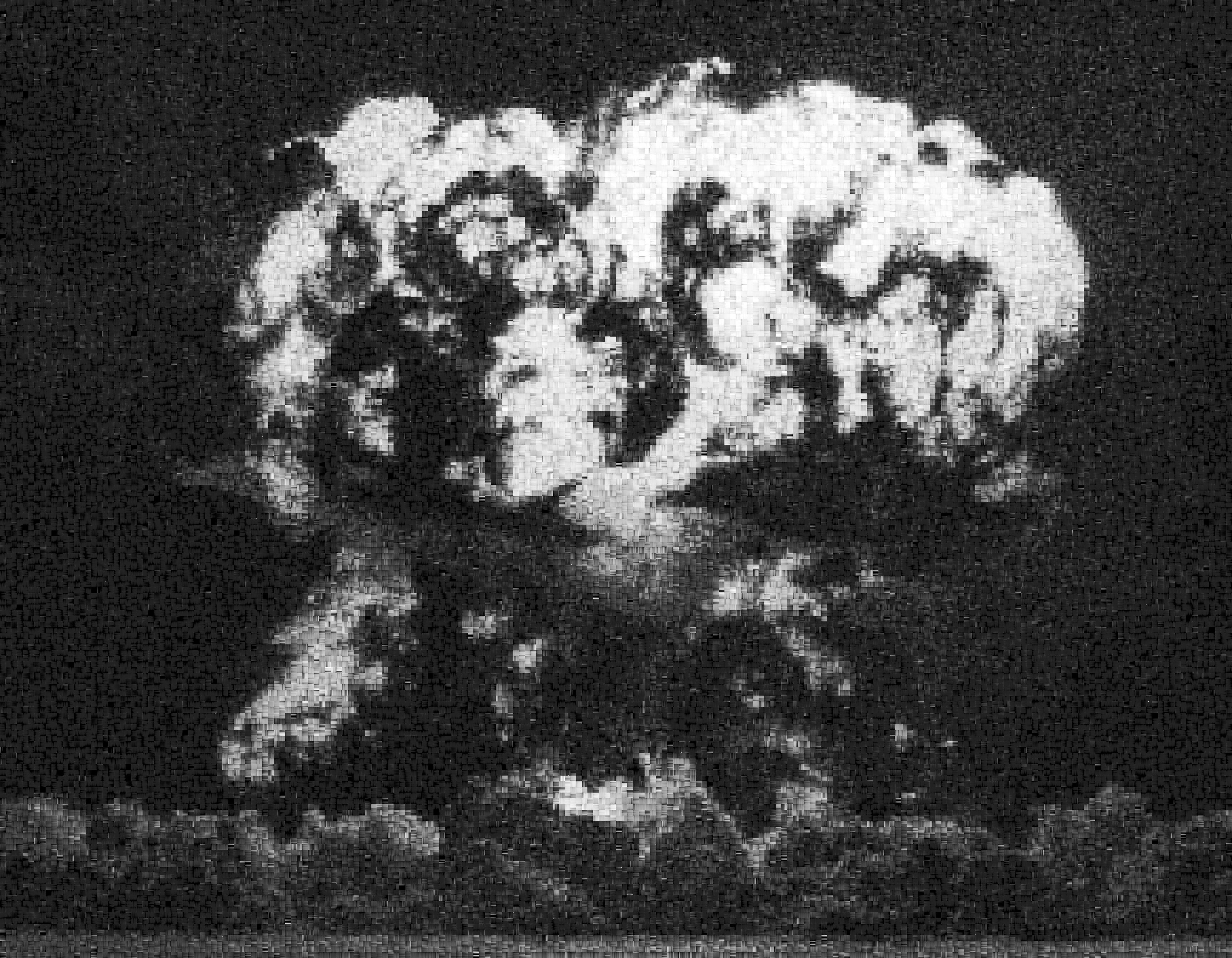 Operation Hardtack: Apple, Pixelated Image of Declassified Military Testing