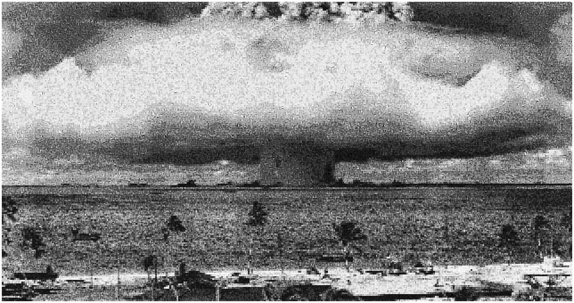 Operation Crossroads: Baker, Pixelated Image of Declassified Military Testing