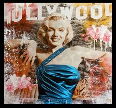 Marilyn Monroe Hollywood with Orchids