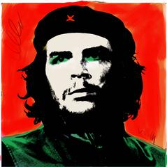 Che Guevara in the style of Andy Warhol