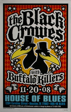 Black Crowes Concert Poster, Signed by Uncle Charlie