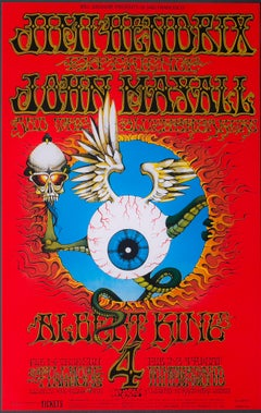 Jimi Hendrix and John Mayall Poster