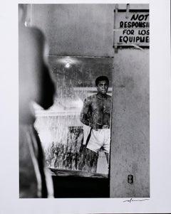 Muhammad Ali in Mirror, printed on Silver Gelatin Paper