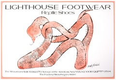 Lighthouse Footwear original poster from 1979 by Andy Warhol