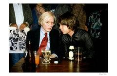 Andy Warhol and Mick Jagger