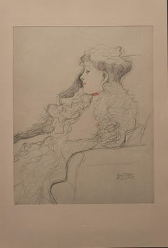 Portrait Sketch: Lady with Ruff (Red and White Tinted)