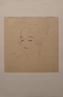 Sketch of a Child's Portrait  (Red and Blue Tinted)
