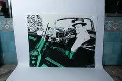 Frank Sinatra in a Car