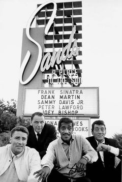Rat Pack in Front of the Sands Hotel